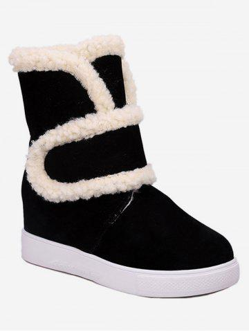 Plus Size Faux Fur Trim Suede Snow Boots