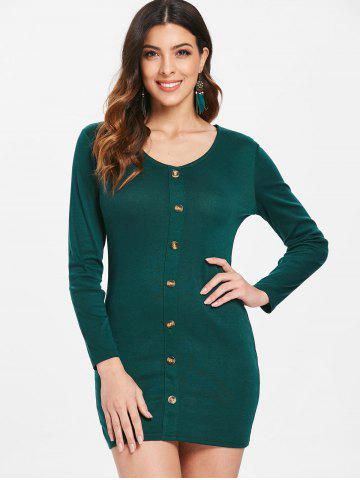 Full Sleeve Button Up Slim Fit Dress