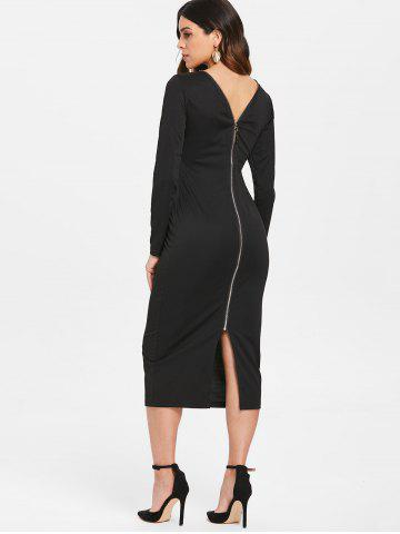 Black Back Zipper Dress Free Shipping Discount And Cheap Sale