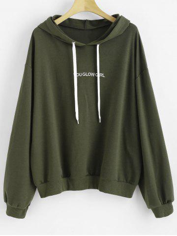 fbe3799d036 Letter Embroidered Plus Size Hoody