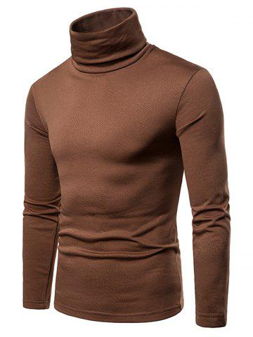 Turtle Neck Solid Color Tee