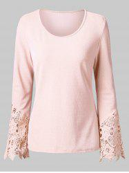 Lace Trim Full Sleeve T-shirt -