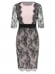 Two Tone Lace Eyelash Dress -