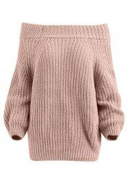Pullover Off The Shoulder Chunky Sweater -