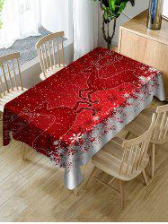 Christmas Deer Print Fabric Waterproof Tablecloth -