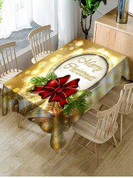 Christmas Bells Print Fabric Waterproof Tablecloth -