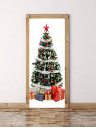 Christmas Tree Gift Print Door Cover Stickers -