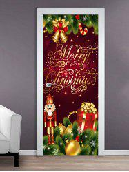 Merry Christmas King Print Door Cover Stickers -