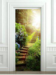 Forest Stairs Print Door Cover Stickers -
