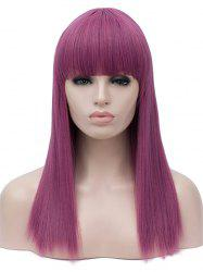 Full Bang Long Straight Cosplay Party Synthetic Wig -