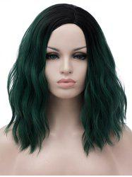 Medium Side Parting Ombre Natural Wavy Cosplay Synthetic Wig -