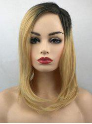 Medium Side Parting Colormix Straight Synthetic Wig -