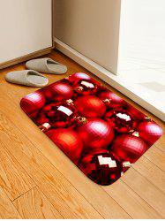 Christmas Baubles Printed Area Mat -