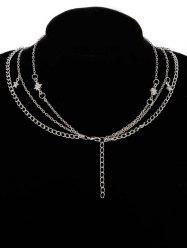 Multi Layers Elephant Star Moon Chain Necklace -