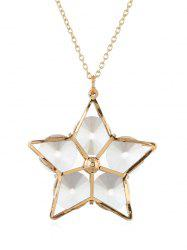 Alloy Star Hollow Out Pendant Necklace -