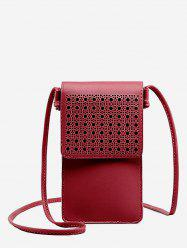 PU Leather Hollow Out Crossbody Bag -