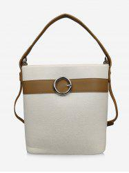 Color Block Buckle Leisure Handbag -
