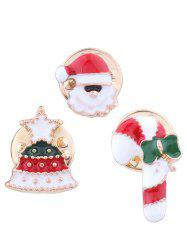Christmas Cake Snowman Decorative Brooch Set -