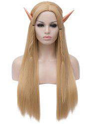 Long Center Parting Straight Braids Cosplay Synthetic Wig -
