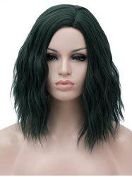 Medium Side Bang Natural Wavy Party Synthetic Wig -