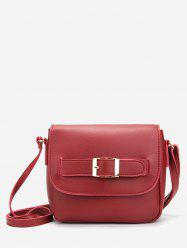 Buckle PU Leather Crossbody Bag -