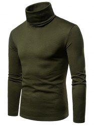 Turtle Neck Solid Color Tee -