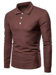 Solid Color Polo Collar Tee -