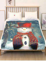 Cute Christmas Snowman Flannel Soft Blanket -