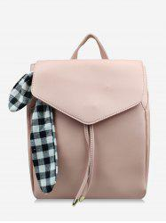 Bowknot Check String Design Backpack -
