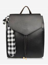 Bowknot Checked String Design Backpack -