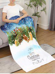 Merry Christmas Printed Flannel Bed Blanket -