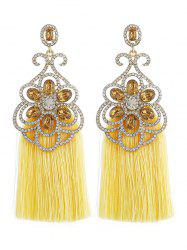 Bohemian Rhinestone Inlaid Fringed Earrings -