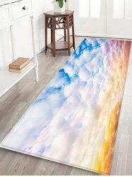 Cloud Printed Non-slip Decorative Flannel Bath Mat -