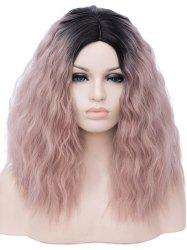 Среднее боковое разделение Ombre Natural Wavy Party Synthetic Wig -