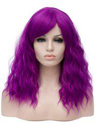 Long Side Bang Natural Wavy Cosplay Synthetic Wig -
