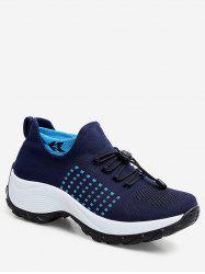 Drawstring Lace Up Breathable Athletic Sneakers -