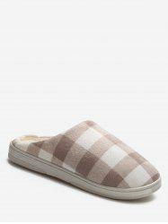 Plaid Cotton Indoor Warm Slippers -