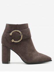 Pointed Toe Suede Short Boots -