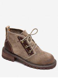 Bottines à lacets vintage -