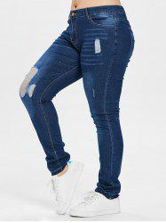 Distressed Plus Size Skinny Jeans -