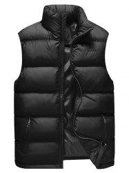 Col Zip Up Gilet En Coton -