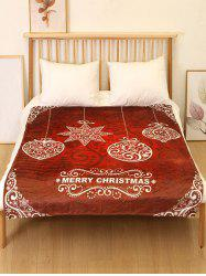 Merry Christmas Snowflake Flannel Soft Bed Blanket -