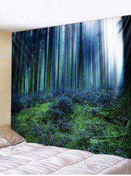 Wall Hanging Art Forest Sunshine Pattern Tapestry -