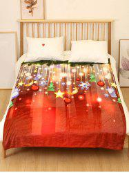 Christmas Tree Moon Star Flannel Soft Bed Blanket -