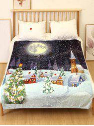 Christmas Tree Night Flannel Soft Bed Blanket -