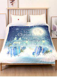 Couverture de lit douce en flanelle Merry Christmas -