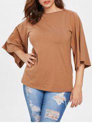 Plus Size Flutter Sleeve T-shirt -