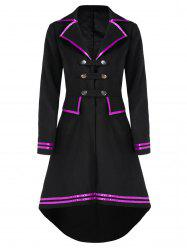 Faux Wool High Low Frock Coat -