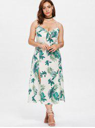 Leaves Knotted Plus Size Dress -