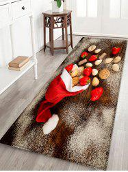Christmas Cap and Biscuits Printed Area Rug Runner -
